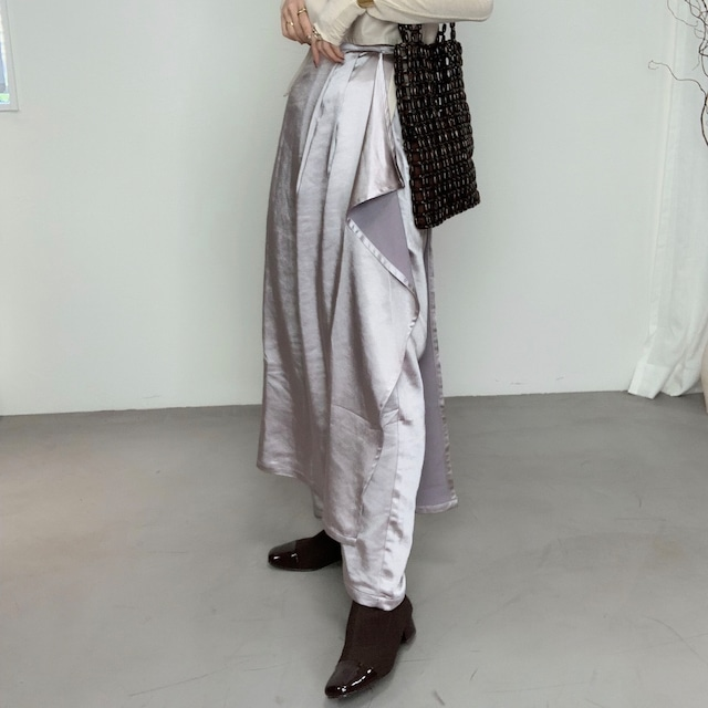 vintage satin【skirt】PT/lavender