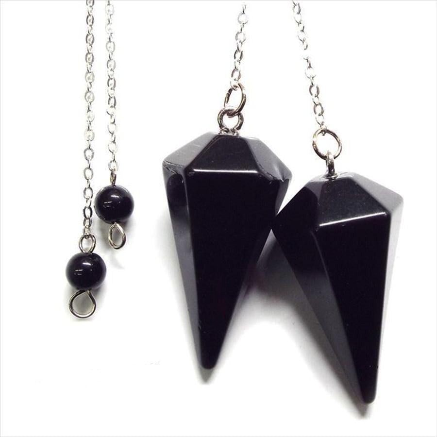 【強い信念と成功の象徴】天然石オニキス ペンデュラム  ダウジング