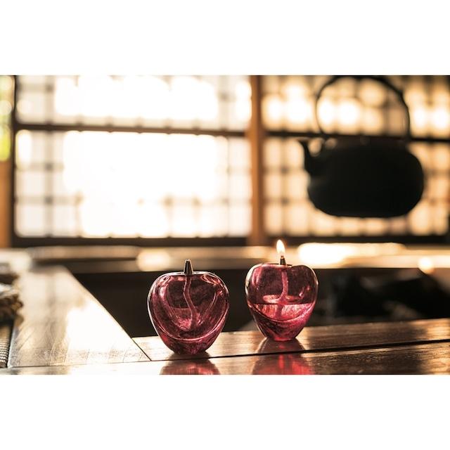 【ギフト包装可】Handmade Apple Oil Lamp by Tsugaru Vidro