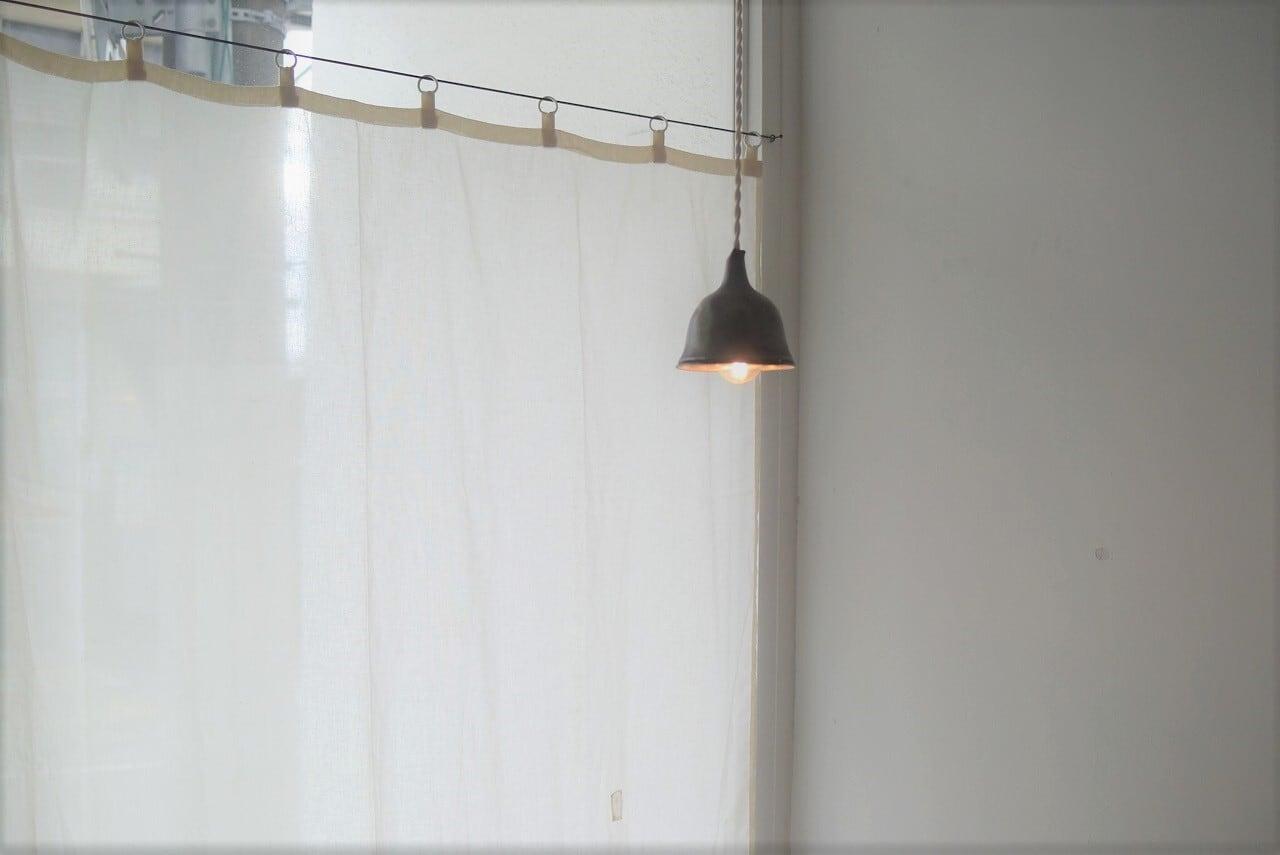 白磁リングのガーゼカーテン 1箇所繕い