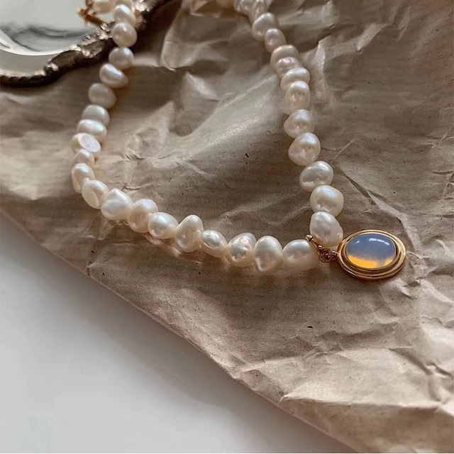 moon stone choker necklace