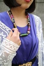 Purple green necklace