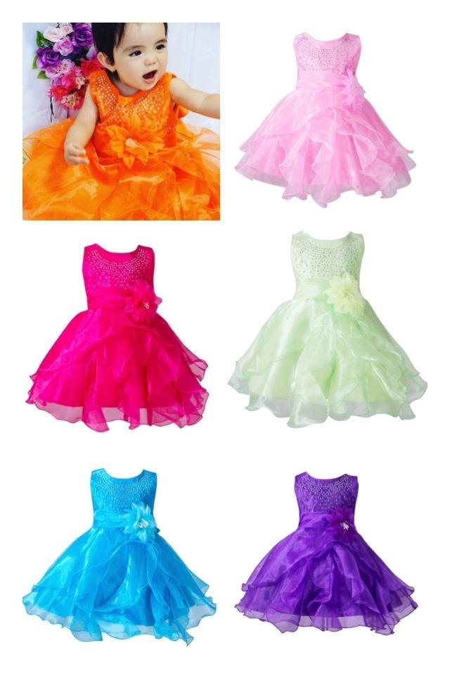 商品番号540 ドレス♡ラインストーンフラワー