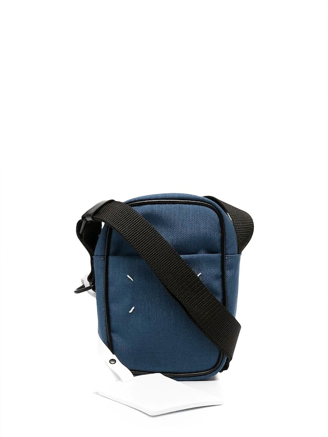 MAISON MARGIELA CORDURA/LEATHER;NEW MINI CAMERA BAG Blue Ashes S55WG0119