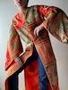 Vintage Patchwork Silk Long Coat