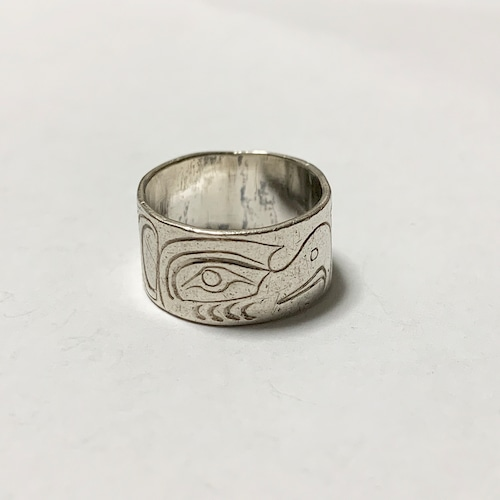 First Nations Engraved Silver Ring ④
