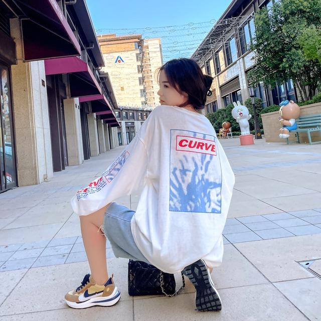 【トップス】韓国系長袖ラウンドネックプルオーバーTシャツ52338414