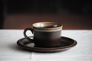 Cup and Saucer MIKASA ULTIMA-PLUS Stoneware 70's