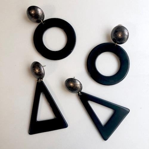Hoop Lucite earrings L-015