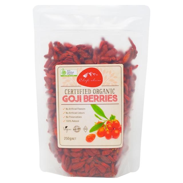 シェフズチョイス オーガニック ゴジベリー 250g Certified Organic Goji Berries 有機JAS クコの実 枸杞の実