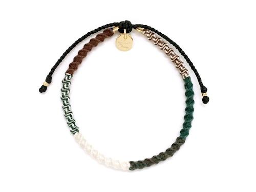 Check Patterned Bracelet / Military Green[チェック柄ミサンガブレスレット]