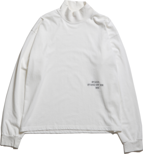 """CC """"STAND BY ME"""" L/S MOCKNECK TEE -WHITE-"""