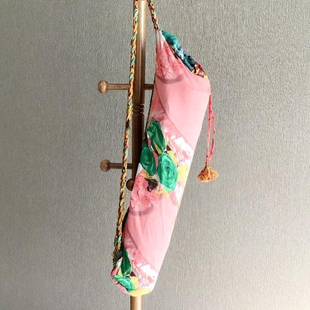 リサイクルサリー ヨガバッグ  D 【フェアトレード商品】 【アップサイクル商品】
