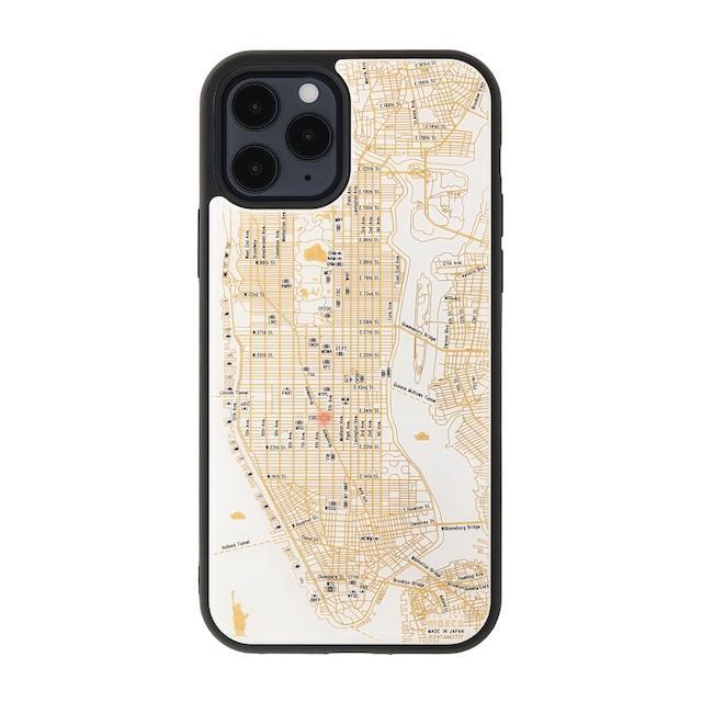 FLASH NY回路地図 iPhone 12 / 12 Pro ケース  白【東京回路線図A5クリアファイルをプレゼント】