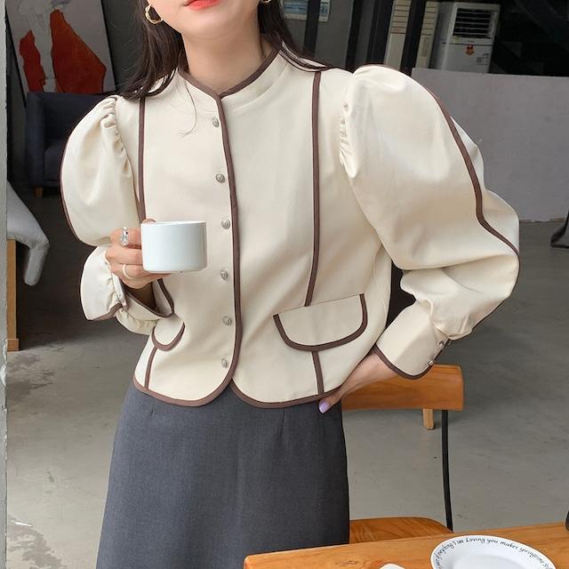 パフスリーブショートジャケット(2color) C211001