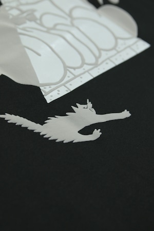 UFO & CAT 3D HEAVY L/S TEE [BLACKHOLE]