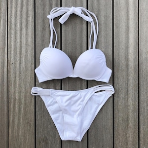 Bikini♡ホルタースリーストラップビキニ ホワイト GSB18S077WHT