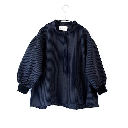 《michirico 2021AW》Stripe shirts / charcoal / S・M