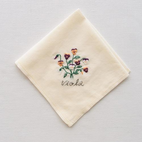 3つの小さな庭【ビオラ】  Sunny Thread 刺繍キット