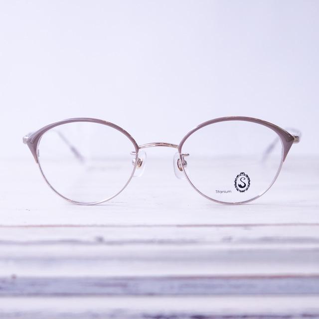 Seacret Remedy シークレットレメディ メガネ レディースブロウ S-039 / White gold +Gray