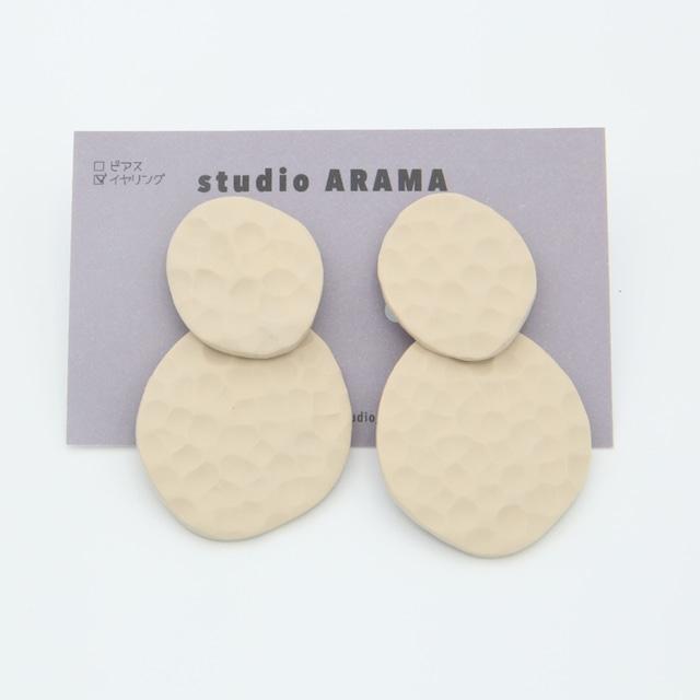 studioARAMA/スタジオアラマ/ホワイトポコポコイヤリング/PW-1-45