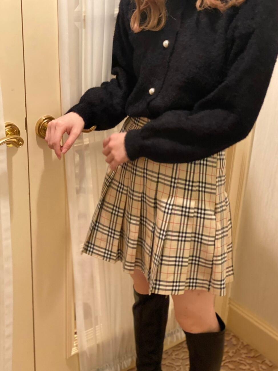 【SSC atelier】London check mini skirt