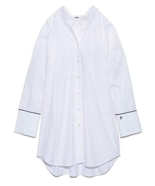 Mila Owen 変形パターンキャンペーンロングシャツ