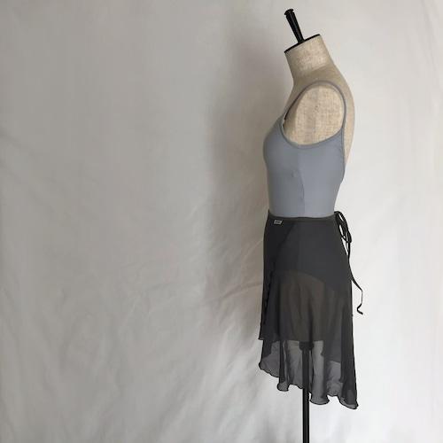 """◇""""Tatiana"""" Ballet Wrap Skirt - """"Sumi"""" Gray [Sheer]( スミ・グレー [シアー])"""
