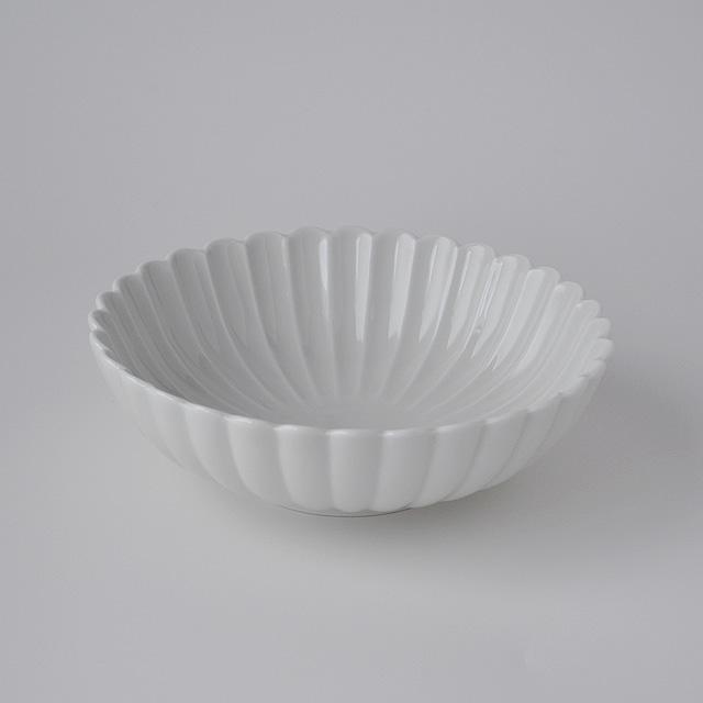 白高麗菊彫取鉢(L)