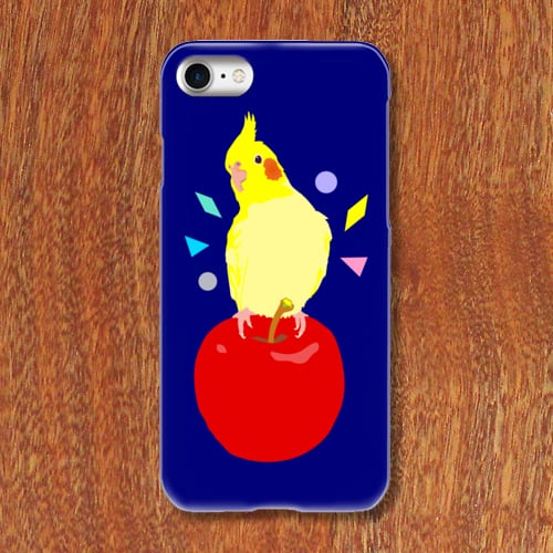 iPhoneケース オカメインコりんご【各機種対応】