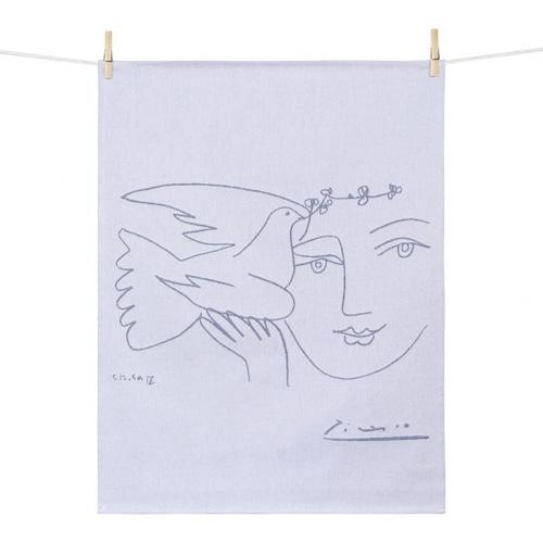 ティータオル LE VISAGE DE LA PAIX(平和の顔) Tissage Moutet/PICASSO(ピカソ)