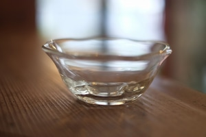 【カンナカガラス工房◆村松学】◆六角輪花鉢<透明>◆初入荷◆NEW◆