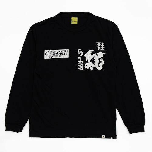 速乾ロングスリーブ Tシャツ(ブラック)