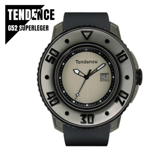 TENDENCE テンデンス G52 SUPERLEGER スパーレジェ グレー 02103001 腕時計 メンズ
