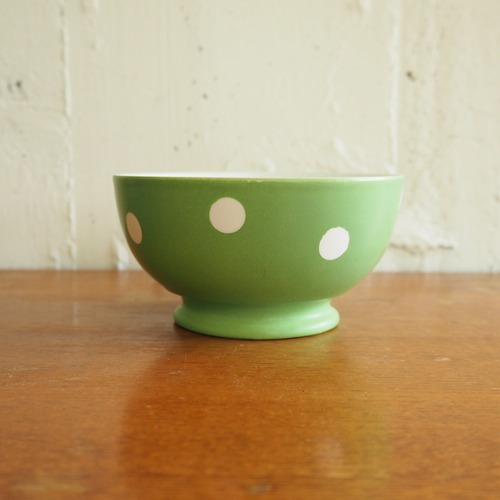 緑の水玉ボウル