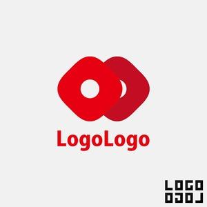 ロゴマークデザイン - 絶妙なカーブの四角が重なる気品とキュートさを備えたデザインのロゴ
