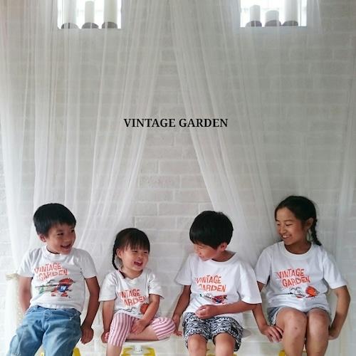 【SALE!】[キッズサイズ] VINTAGE GARDEN オリジナルキャラクターTシャツ