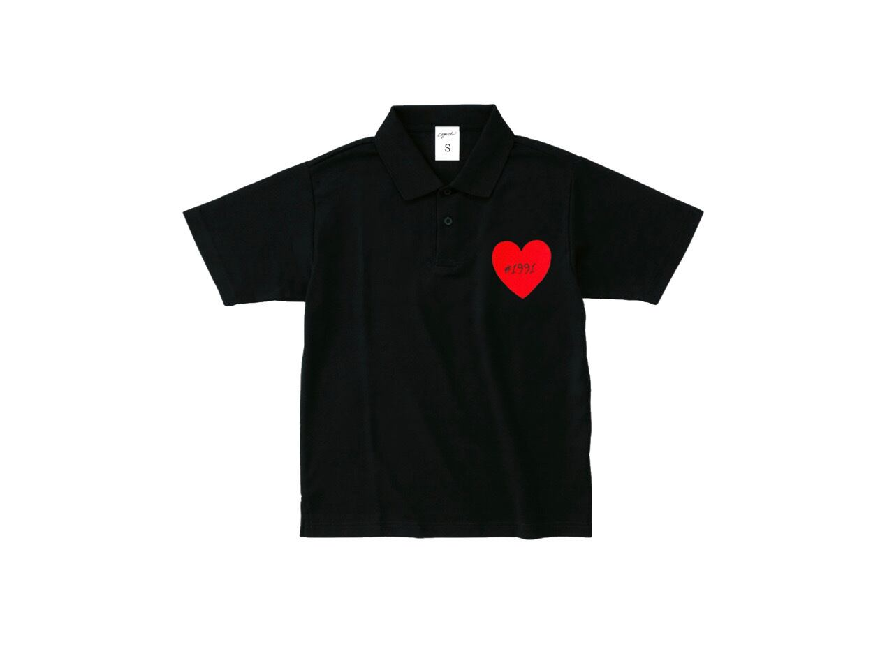 1991 Heart Patch polo-shirts (BLK)