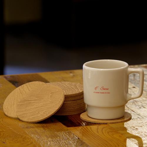 i ro se plywood leather coaster