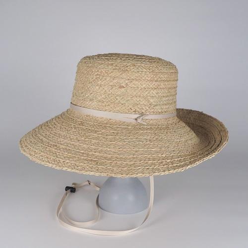 SS21-BD-11 Wide Raffia Long Brim Hat - NAT/BEG
