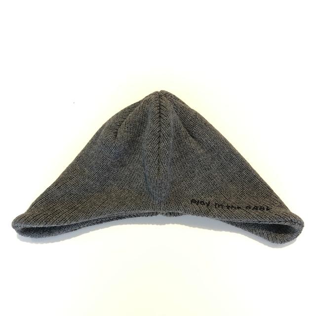 【21AW】THE PARK SHOP(ザ・パークショップ)parkboy beanie (KIDS )black 帽子