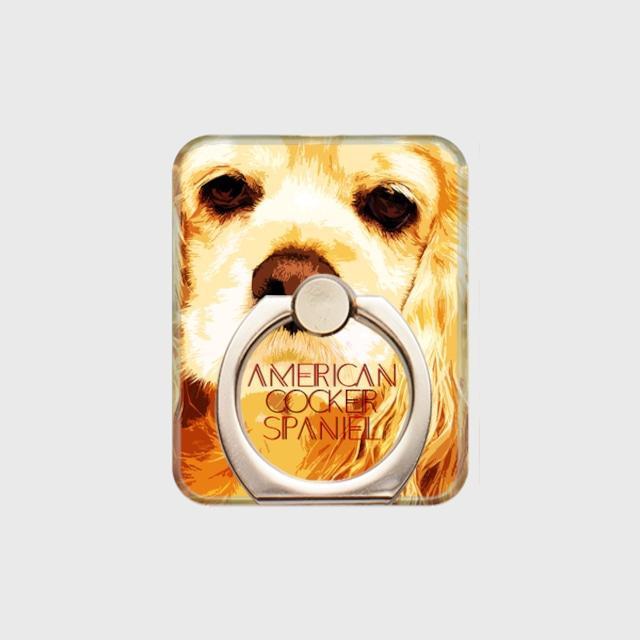 アメリカンコッカースパニエル おしゃれな犬スマホリング【IMPACT -color- 】