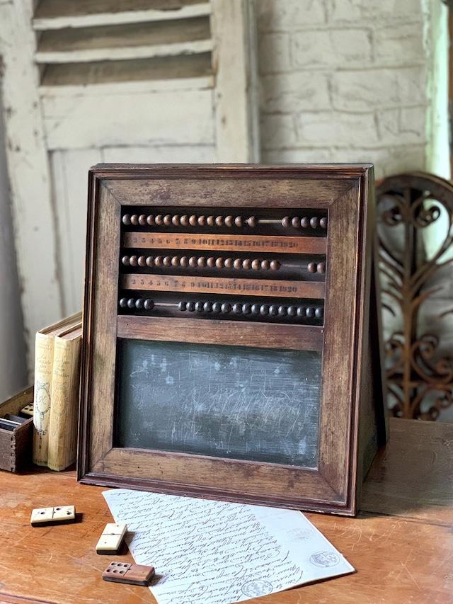 木製 卓上黒板 そろばん  アバカス ブラックボード