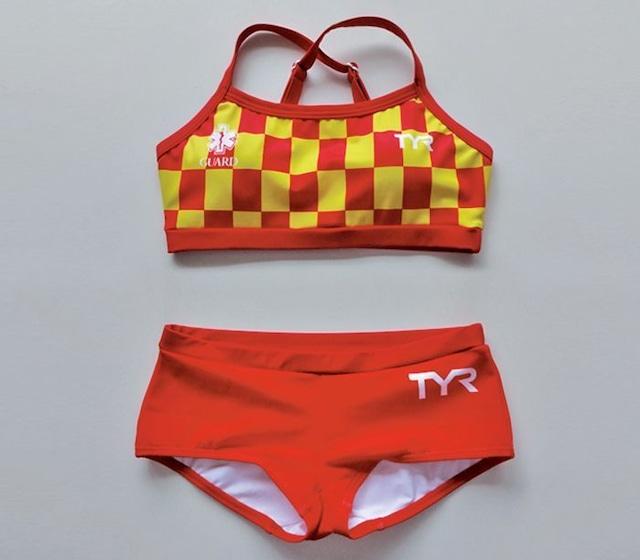 GUARD×TYR レディース水着 チェッカー柄 ワークアウト ビキニ タンキニ セパレート フィットネス 2018 wgard-18s 競泳