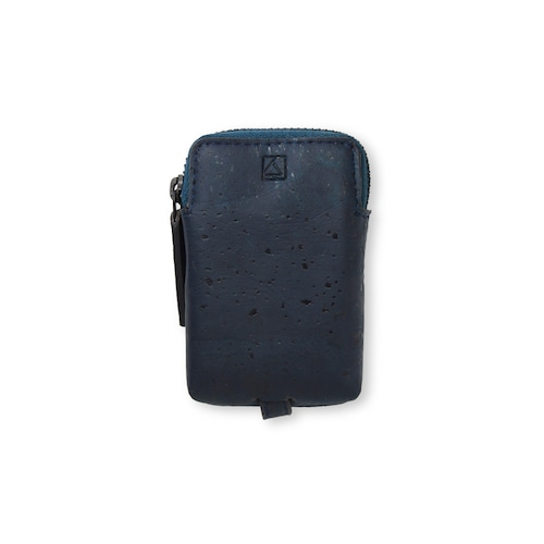 VEGAN MINI KEY CASE - BLUE / キーケース 青 コルク製