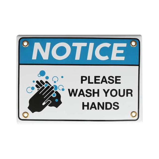 エナメルサイン WASH YOUR HANDS