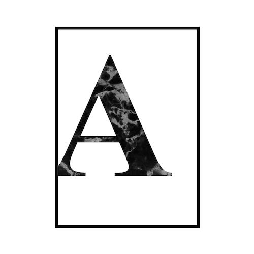 """A"" 黒大理石 - Black marble - ALPHAシリーズ [SD-000502] A2サイズ ポスター単品"