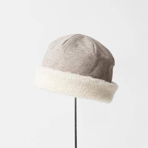 mature ha./hood cap organic cotton/yak × white