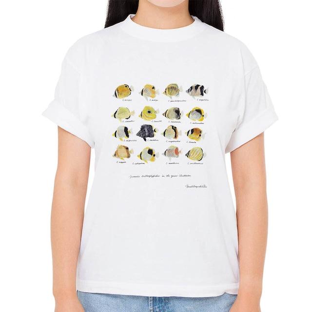 【チョウチョウウオの幼魚たち】長嶋祐成コレクション 魚の譜Tシャツ(高解像・昇華プリント)
