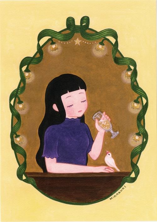 ミニポスター A4サイズ 「Ginger syrup」 MIKAZUKI / ミカヅキ